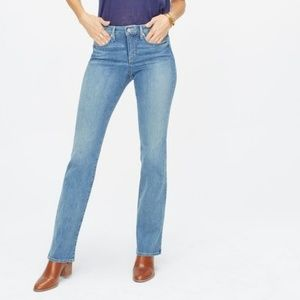 NYDJ 2 Barbara Bootcut Jeans Stretch Light Wash